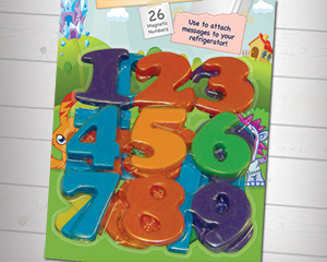 Moshi Monsters Magnetic Numbers Packaging