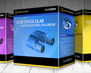 National Geographic Color Binoculars Repackaging