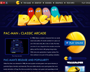 Pac-Man Website Example