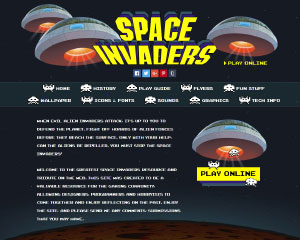 Space Invaders Website Example