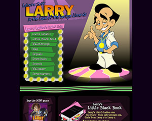Leisure Suit Larry Website Example