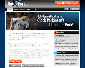Out of the Park Website Example