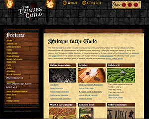 The Thievesguild Website Example